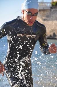Sortie de l'eau Triathlon